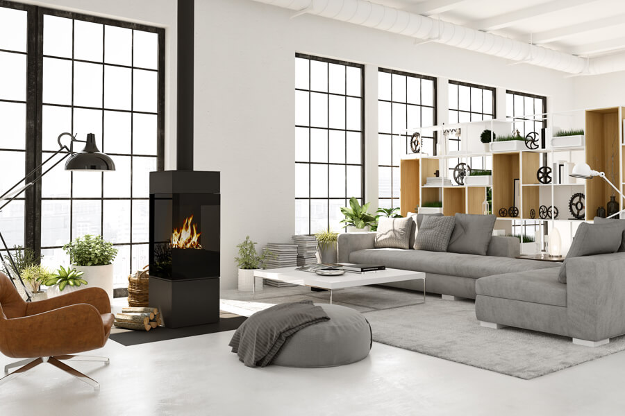 huis verwarmen met openhaard